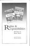 Rights & Responsibilities: My Years at Bank Street by John H. Niemeyer