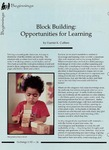 Block Building: Opportunities for Learning by Harriet K. Cuffaro