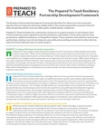 Residency Partnership Development Framework by Bank Street College of Education