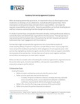 Preparation Program and District Partnership Agreement Considerations by Prepared To Teach, Bank Street College