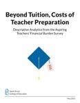Beyond Tuition, Costs of Teacher Preparation: Descriptive Analytics from the Aspiring Teachers' Financial Burden Survey by Francheska Santos, Divya Mansukhani, and Karen DeMoss