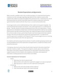 Guidance: Resident Expectations and Agreements by Prepared To Teach, Bank Street College