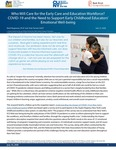 Who Will Care for the Early Care and Education Workforce? COVID-19 and the Need to Support Early Childhood Educators' Emotional Well-being by Mark Nagasawa and Kate Tarrant